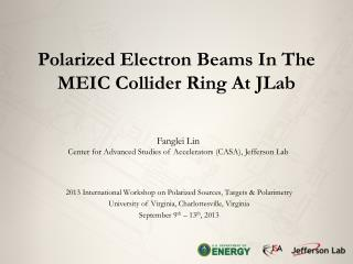 Polarized Electron Beams  In The  MEIC Collider Ring At  JLab