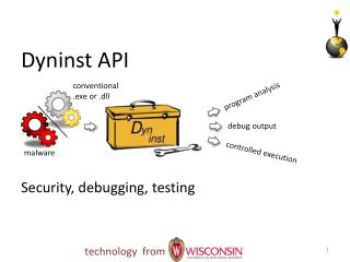 Dyninst API	 Security, debugging ,  testing