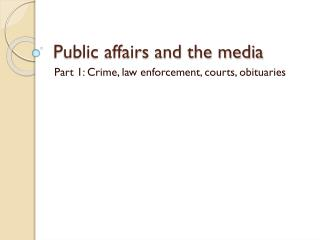 Public affairs and the media
