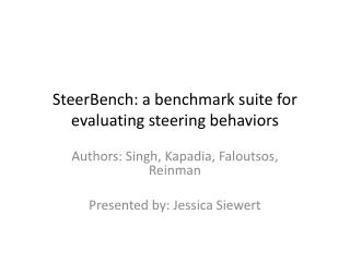 SteerBench: a benchmark suite for evaluating steering behaviors