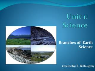 Unit 1:            Science