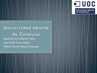 Universidad abierta de Cataluña