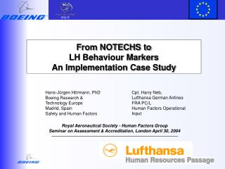 From NOTECHS to  LH Behaviour Markers  An Implementation Case Study