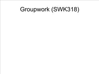 Groupwork SWK318