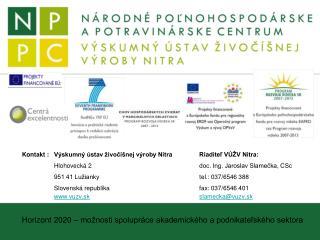 Horizont 2020 – možnosti spolupráce akademického a podnikateľského sektora