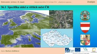 36.1   Specifika sídel a větších měst ČR