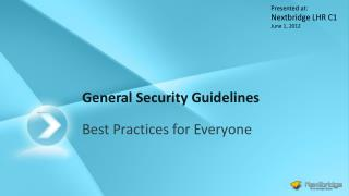 General Security Guidelines