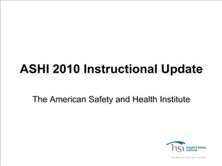 ASHI 2010 Instructional Update