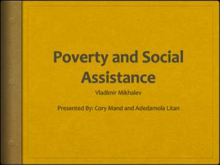 Poverty and Social Assistance