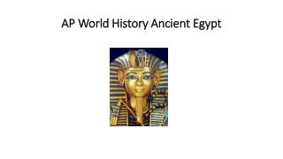 AP World History Ancient Egypt
