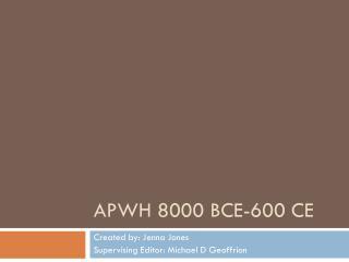 APWH 8000  BCE-600  CE
