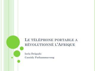 Le téléphone portable a  révolutionné l'Afrique