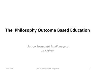 The  Philosophy Outcome Based Education