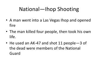 National� Ihop  Shooting