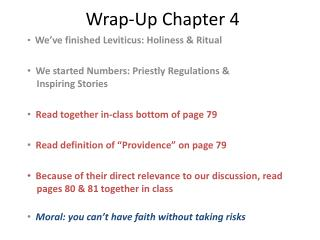 Wrap-Up Chapter 4