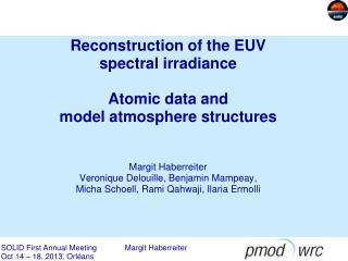 Reconstruction of EUV variations