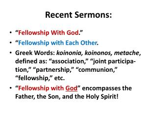 Recent Sermons: