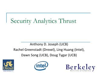 Security Analytics Thrust