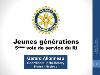 Jeunes générations  5 ème  voie de service du RI