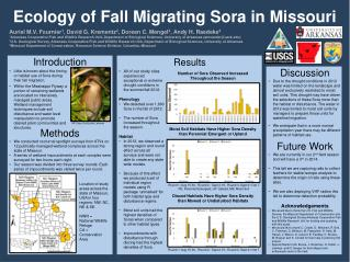Ecology of Fall Migrating Sora in Missouri