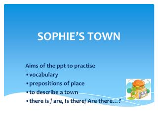 SOPHIE'S TOWN