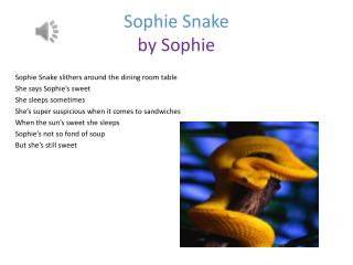 Sophie Snake by  S ophie