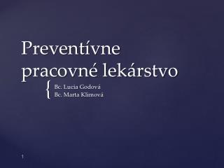 Preventívne pracovné lekárstvo