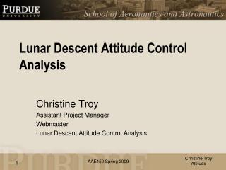 Lunar Descent Attitude Control Analysis