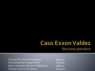 Caso Exxon Valdez Derrame petrolero
