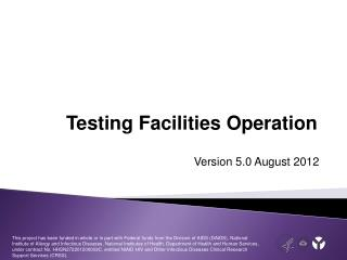Testing Facilities Operation