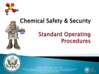 Chemical Safety & Security  Standard Operating  Procedures
