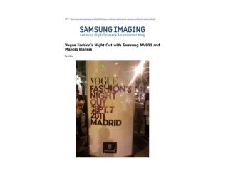 Vogue Fashion's Night Out with Samsung MV800 and Manolo Blah