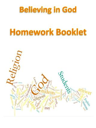 Believing in God Homework Booklet