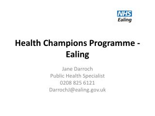Health Champions Programme - Ealing