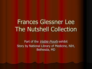 Frances Glessner Lee The Nutshell Collection