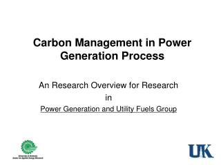 Carbon Management in Power Generation Process