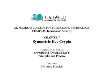 Chapter 3: Symmetric Key Crypto