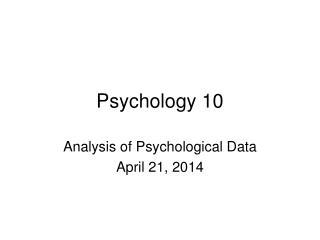 Psychology 10