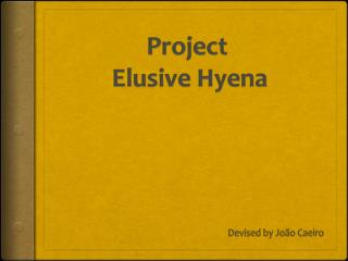 Project  Elusive Hyena