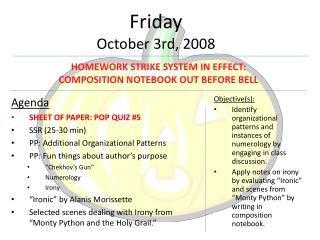 Friday October  3rd ,  2008