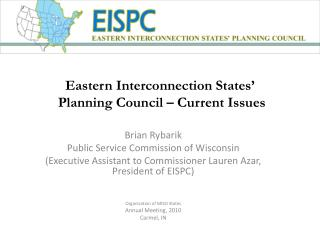 Eastern Interconnection States'  Planning Council – Current Issues