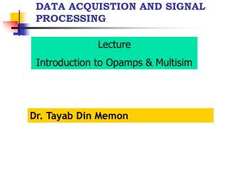 DATA ACQUISTION AND SIGNAL PROCESSING