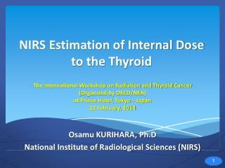 NIRS Estimation of Internal Dose to the Thyroid