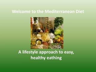 A  lifestyle approach  to easy,  healthy eathing