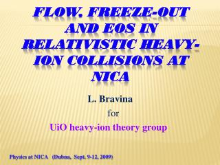 FLOW, FREEZE-OUT and  EoS in  relativistic heavy-ion collisions  at NICA