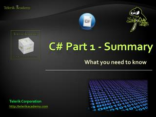 C# Part 1 - Summary