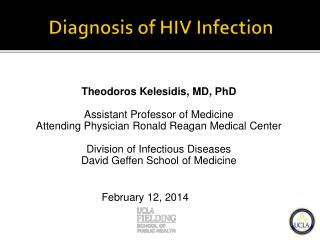 Diagnosis of HIV Infection