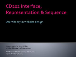 CD202 Interface, Representation & Sequence User theory in website design