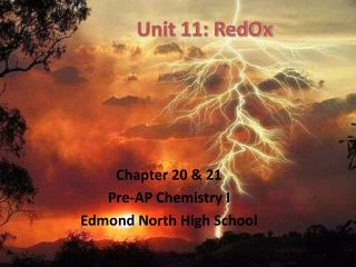 Unit 11: RedOx