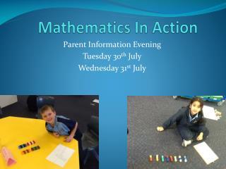 Mathematics In Action